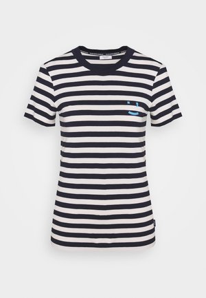 SHORT SLEEVE STRIPE - Print T-shirt - multi/scandinavian blue