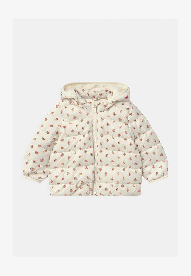 PUFFER HOOD - Winter jacket - ivory frost