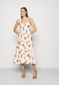 Farm Rio - LEOPARD SHELL MIDI DRESS - Shirt dress - multi - 1