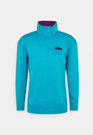 BUGA QUARTER ZIP - Collegepaita - fjord blue/plum