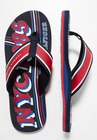 Tommy Hilfiger - CITY PRINT BEACH  - Sandalias de dedo - red - 1