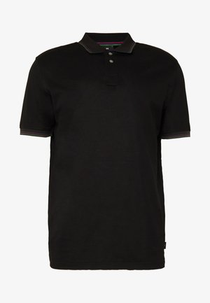STRIPE POLO - Piké - black