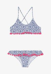 Sunuva - GIRLS SHIBORI POM POM FRILL - Bikini - blau - 2