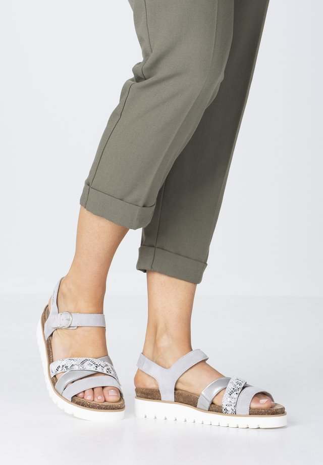 THINA - Sandals - light grey