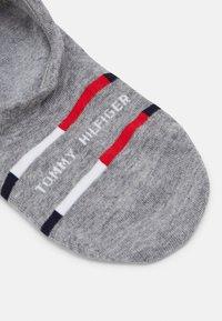 Tommy Hilfiger - MEN FOOTIE BRETON STRIPE 2 PACK - Trainer socks - mid grey - 1