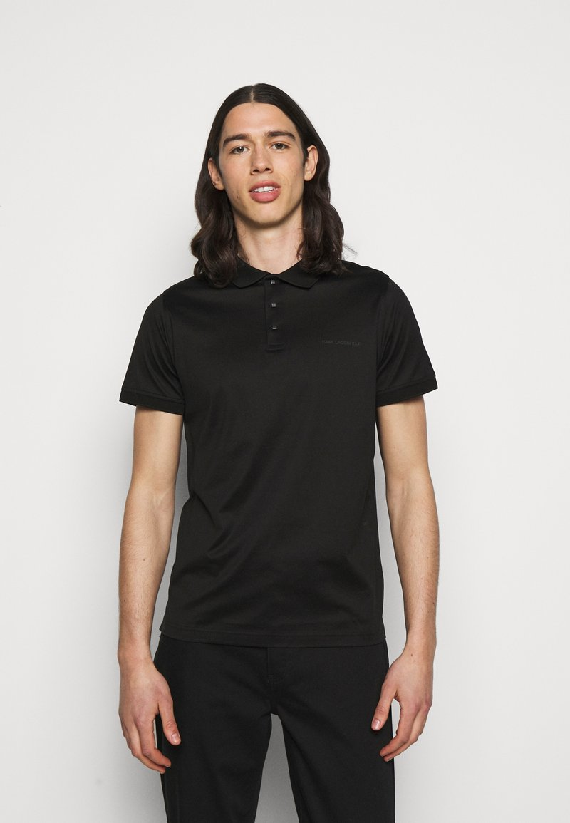 KARL LAGERFELD - PRESS BUTTON - Polo shirt - black
