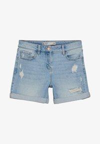 Next - Denim shorts - mottled blue - 0