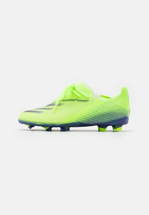 X GHOSTED.1 FOOTBALL BOOTS FIRM GROUND UNISEX - Moulded stud football boots - signal green/enrgy ink/semi solar slime