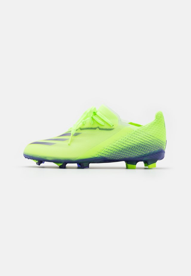 X GHOSTED.1 FOOTBALL BOOTS FIRM GROUND UNISEX - Korki Lanki - signal green/enrgy ink/semi solar slime