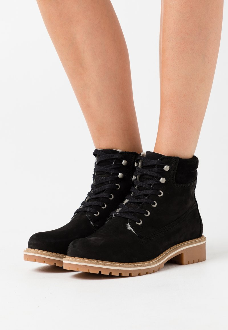 Vero Moda Wide Fit - VMSINEA BOOT WIDE FIT - Winter boots - black