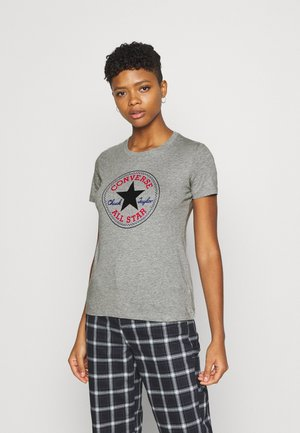 CHUCK TAYLOR PATCH TEE - Print T-shirt - grey