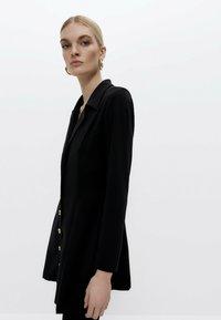 Uterqüe - Shirt dress - black - 3