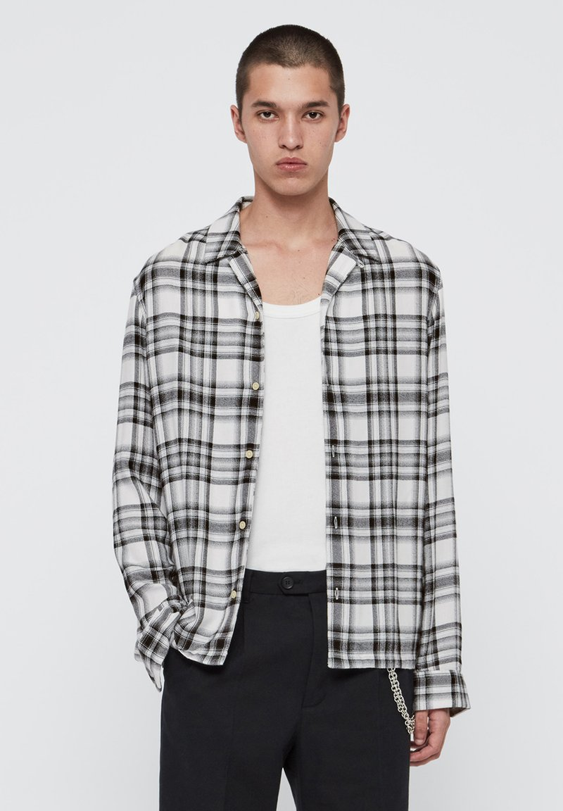 AllSaints - EASTON LS SHIRT - Skjorter - white