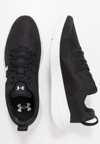 Under Armour - ESSENTIAL - Sports shoes - black/white - 1