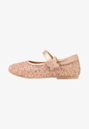 Ankle strap ballet pumps - multicoloured