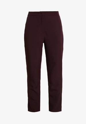HIGH WAISTED CIGARETTE TROUSERS - Tygbyxor - burgundy