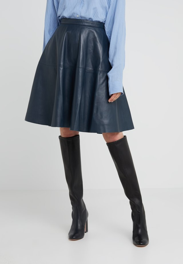 TESSA SKIRT - Jupe trapèze - dark blue