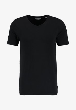 ONSBASIC SLIM V-NECK - Jednoduché triko - black