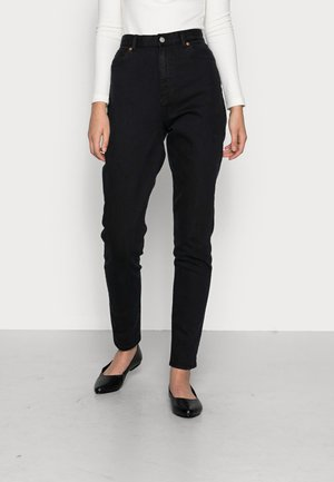 NORA - Jeans Tapered Fit - washed black stretch