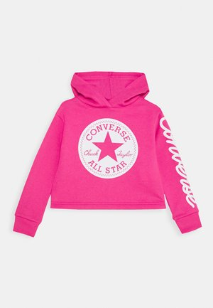 CHUCK PATCH CROPPED HOODIE - Bluza z kapturem - pink
