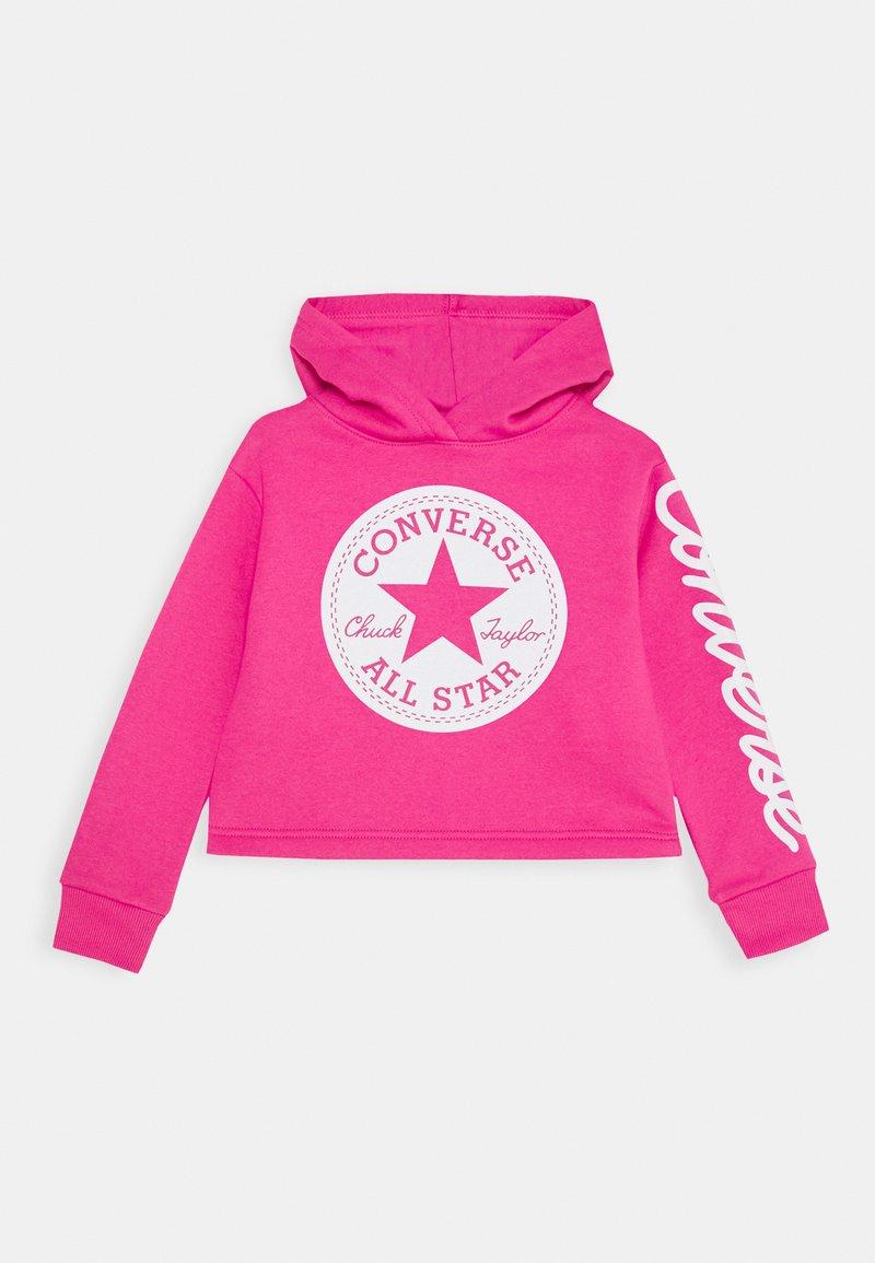 Converse - CHUCK PATCH CROPPED HOODIE - Felpa con cappuccio - pink