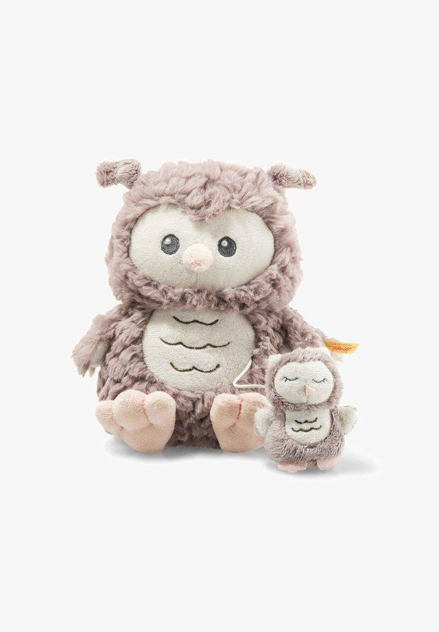 OLLIE EULE - Cuddly toy - rosabraun