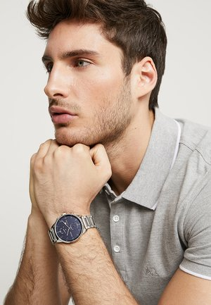 CHASE - Watch - silver-coloured/blue