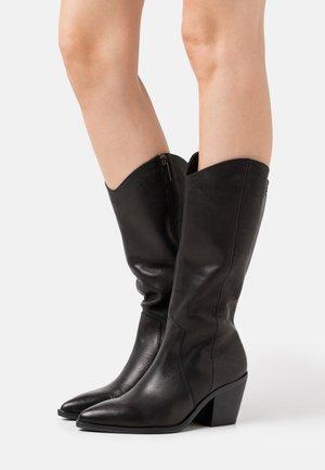 LADIES SHOES - Cowboy/Biker boots - black