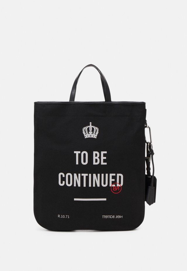 UNISEX - Tote bag - black/off white
