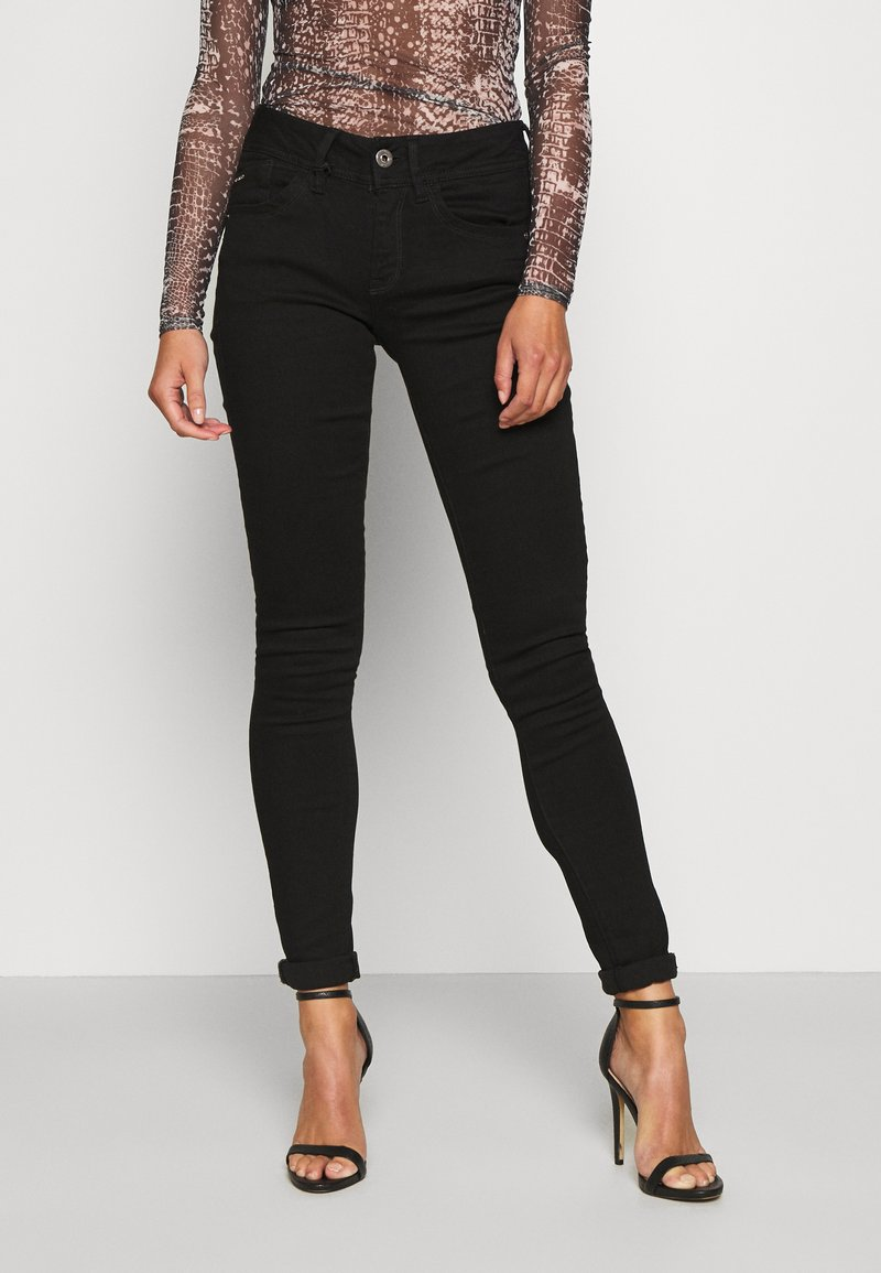 G-Star - LYNN MID SKINNY WMN - Jeans Skinny Fit - pitch black