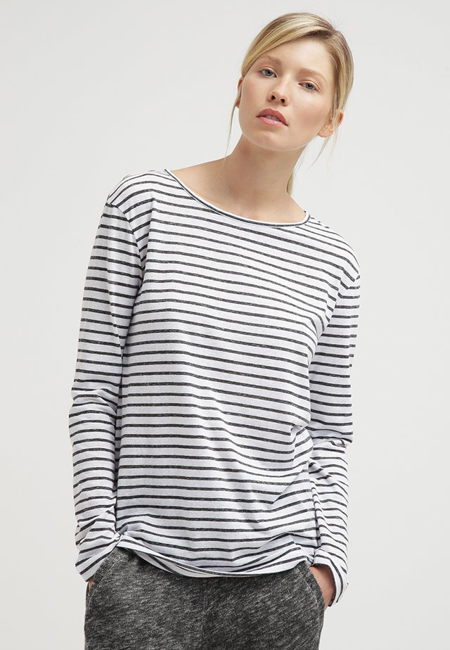 NOBEL STRIPE - Long sleeved top - black stripe