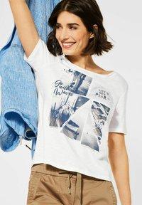 Cecil - MIT FOTOPRINT - Print T-shirt - weiß - 0
