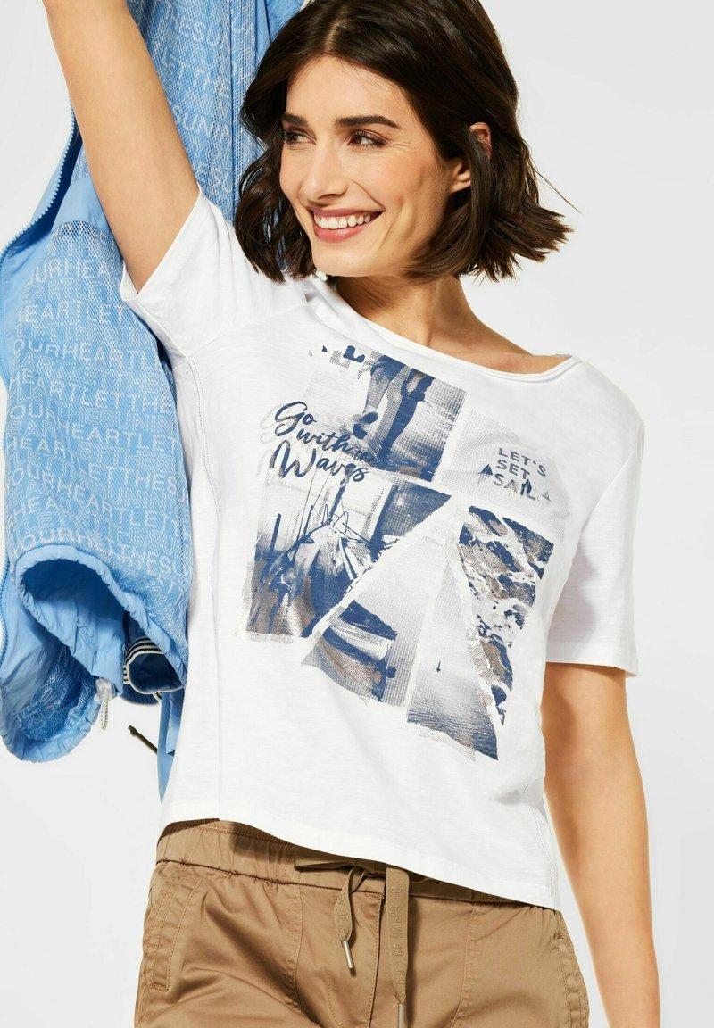 Cecil - MIT FOTOPRINT - Print T-shirt - weiß