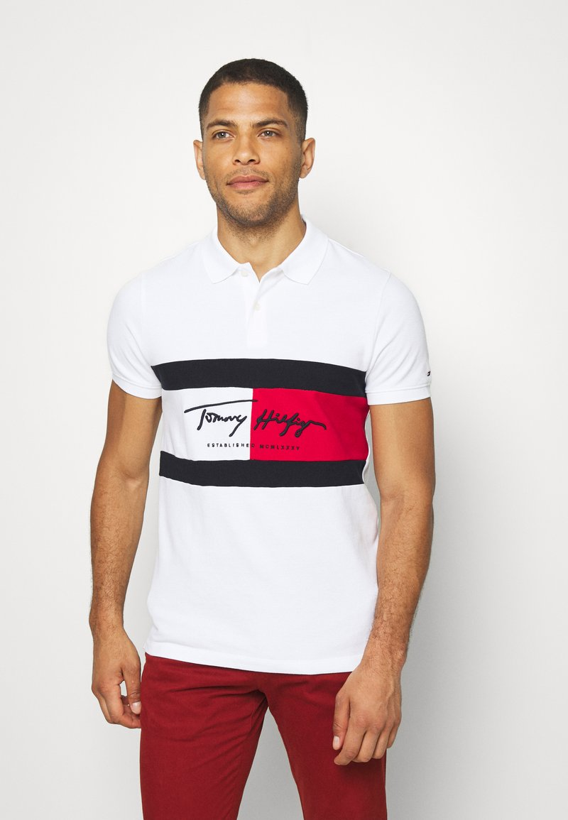 Tommy Hilfiger - AUTOGRAPH FLAG SLIM FIT - Polo shirt - white