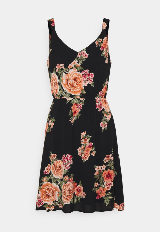 ONLKARMEN DRESS  - Korte jurk - black/orange