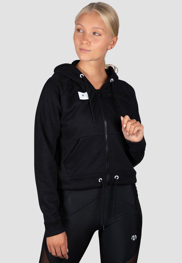 veste en sweat zippée - schwarz