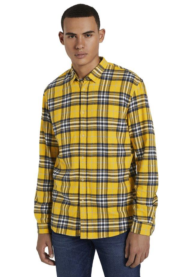 Shirt - mustard multicolor check