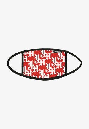 Stoffen mondkapje - red/white