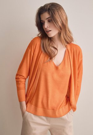 Cardigan - orange - 8574 - arancio