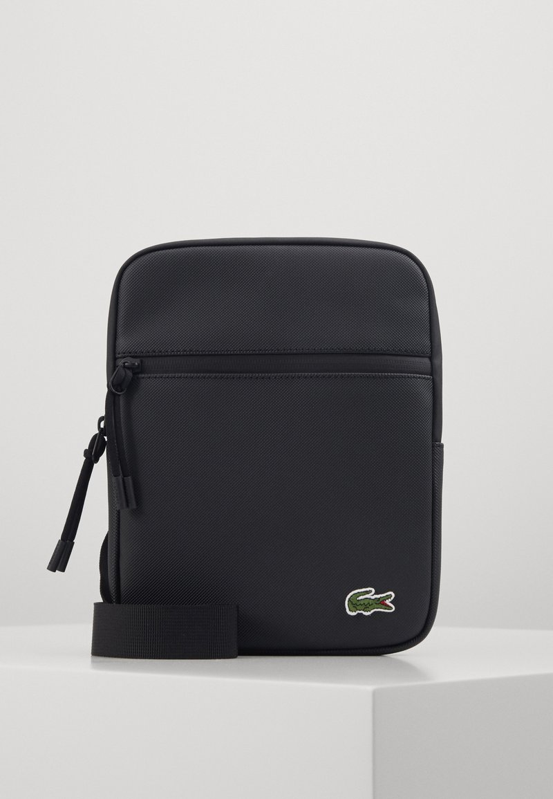 Lacoste - FLAT CROSSOVER BAG - Across body bag - noir