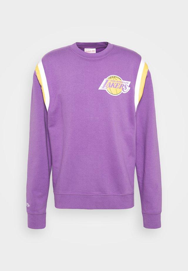 NBA LOS ANGELES LAKERS WARM UP PASTEL CREW - Club wear - purple