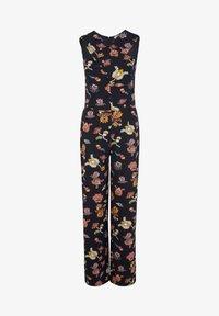comma casual identity - MIT WICKEL-EFFEKT - Jumpsuit - marine floral print - 5