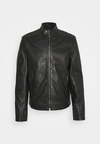 THOMAS JACKET - Leather jacket - black