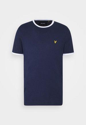 RINGER TEE - Basic T-shirt - navy/white
