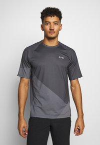 Gore Wear - C5 TRAIL TRIKOT KURZARM - T-Shirt print - dark graphite grey - 0