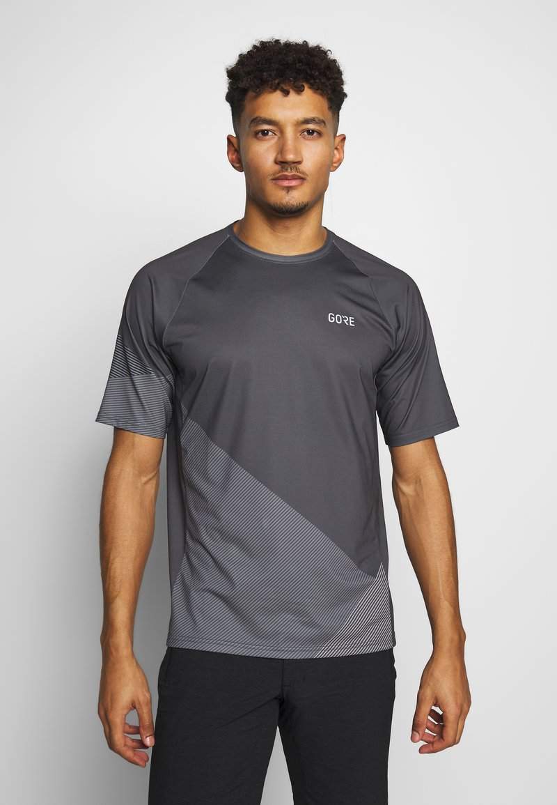 Gore Wear - C5 TRAIL TRIKOT KURZARM - T-Shirt print - dark graphite grey