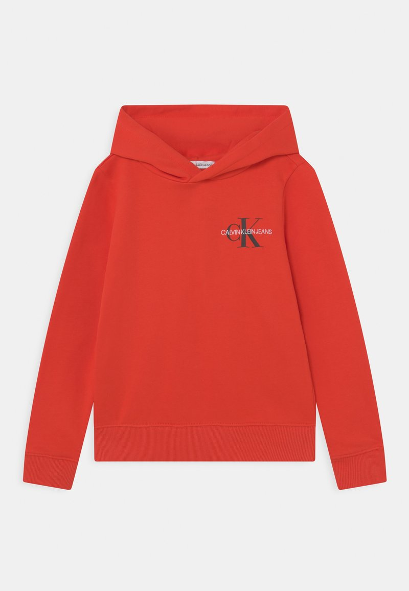 Calvin Klein Jeans - SMALL MONOGRAM HOODIE UNISEX - Kapuzenpullover - flaming chili