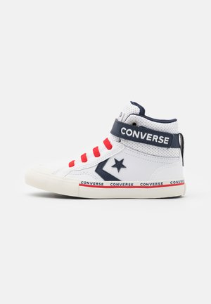 PRO BLAZE STRAP - High-top trainers - white/obsidian/university red