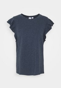 GAP - RUFFLE - T-shirt con stampa - navy heather - 4
