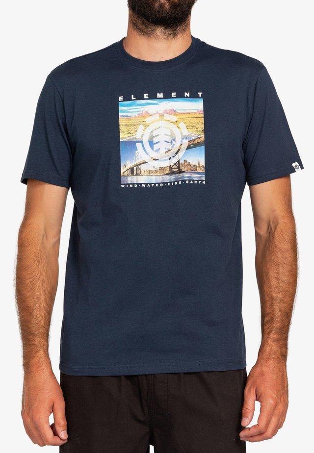 PEORIA - T-shirt print - eclipse navy